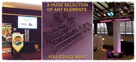 Rent lighting truss or exhibit truss, exhibit display, show booth, modular display.