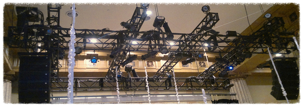 Rentals of truss, staging elements and conventional lighting, Truss and Lighting setup in New York