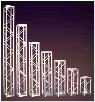 Aluminum Exhibition Truss, Circle Truss, Outdoor Roof Truss: The specific 12″ truss lengths we rent for NYC events