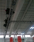 Rigging hardware, hardware rigging, beam clamps rigging, Stage, stage drapes, truss setup performed by AV NYC at the Javits Center