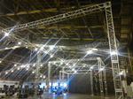 event stages, exhibit trusses, led stage lighting systems, on stage